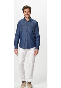 Camisa Slim Jeans Maquinetada Malwee