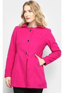 f8f585d2b R$ 119,99. Zattini Casaco Feminino Pink Queen Botões ...