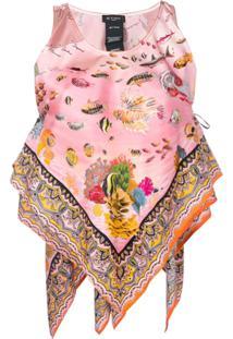 Etro Blusa Assimétrica Estampada - Rosa