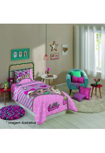 Edredom Lol® Solteiro- Rosa Claro Verde Água- 150Xlepper