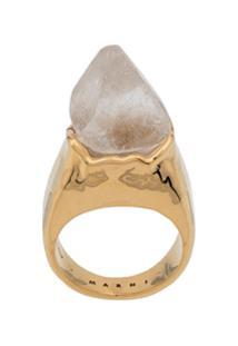 Marni Large Stone Ring - Dourado