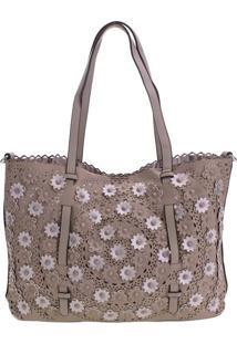 Bolsa Feminina Arara Dourada - H5027 Bege