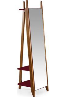 Espelho Stoka – Máxima - Nogal / Bordo