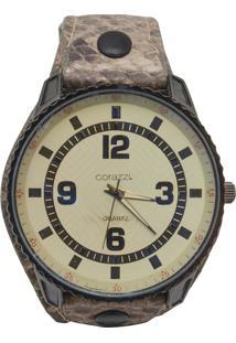 Relógio Corazzi Leather Deluxe Snake Branco