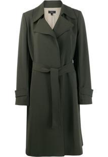Theory Trench Coat Com Cinto - Verde