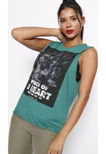 "Blusa ""Pinch Of A Heart""- Verde Escuro- Sommersommer"