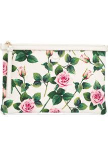 Dolce & Gabbana Clutch Com Estampa De Rosas Tropicais - Branco