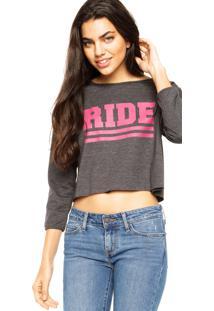Blusa Ride Skateboard Twill Cinza