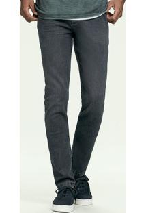 Calça Jeans Masculina Hering Com Efeito Amassado E Slim