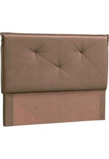 Cabeceira Casal Vic 140 Cm Suede Animale Marrom Chocolate - D'Monegatto