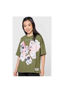 Camiseta Colcci Disney Verde