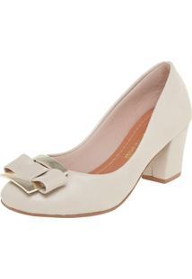 Scarpin Dafiti Shoes Laço Off-White