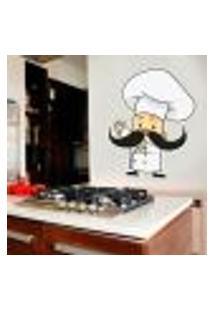 Adesivo De Parede Chefe De Cozinha 1 - M 43X55Cm