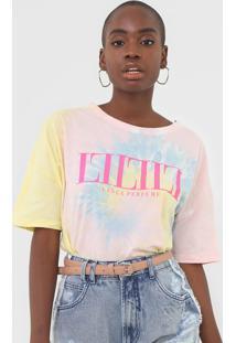 Camiseta Lanã§A Perfume Tie Dye Amarela/Rosa - Amarelo - Feminino - Algodã£O - Dafiti