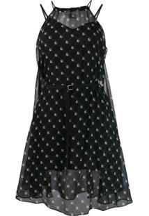 Diesel Belted Print Dress - Preto
