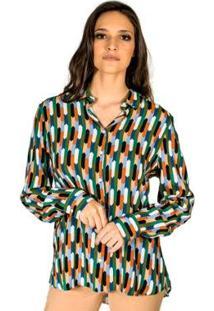 Camisa Estampada Colcci - Feminino-Verde