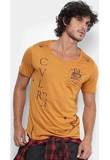 Camiseta Cavalera Long Skull Estampada Masculina - Masculino