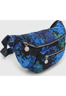 Pochete Transversal Belly Bag Camoflower Azul
