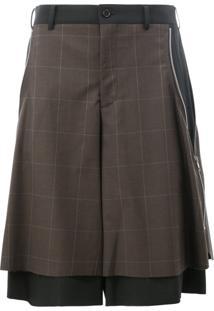 Comme Des Garçons Homme Plus Bermuda Pantalona Xadrez - Grey