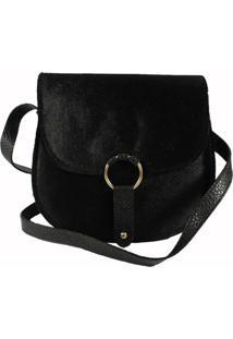 Bolsa Bag Dream Em Veludo Com Fivela Preta