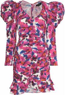 Isabel Marant Vestido Mireya Com Estampa Floral - Neutro
