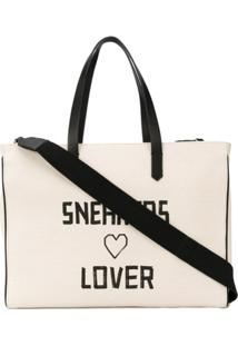 Golden Goose Bolsa Tote Sneakers Lovers East-West California - Neutro