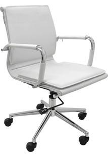 Cadeira Baixa Oficce Pu Valencia -Rivatti - Branco