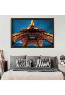 Quadro Love Decor Com Moldura Torre Eiffel La Nuit Madeira Escura Grande