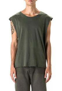 T-Shirt Osklen Sleeveless Eco Cuts Soft Masculina - Masculino-Verde