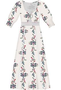 Vestido Tecido Linge Midi Ornamental - Lez A Lez