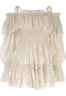 Alice Mccall Champers Off-The-Shoulder Playsuit - Dourado