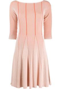 Emporio Armani Knitted Midi Dress - Vermelho