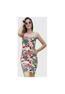 Vestido Tubinho Floral D Bell