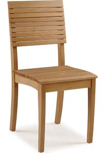 Cadeira Para Cozinha De Madeira Maciça Popi - Verniz Amêndoa - 42X46X91 Cm