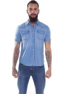 Camisa Jeans Levis Short Sleeve Classic Western - Xl