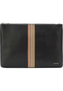 Paul Smith Clutch De Couro - Preto