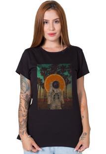 Camiseta Verão No Espaço Preto