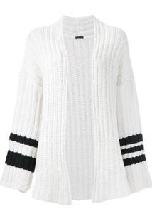 Osklen Cardigan De Tricô Com Listras - Branco