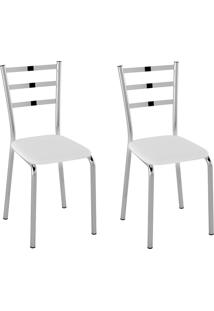 Cadeiras Kit 2 Cadeiras Corino Pc140012 Branco - Pozza