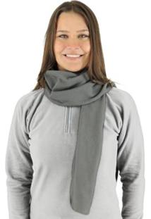 Cachecol Térmico Classic Thermo Fleece - Unissex-Cinza