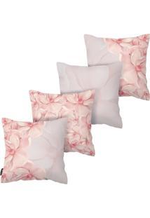 Kit Com 4 Capas Para Almofadas Floral Armonizzi Store