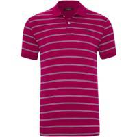 e8de499c32 Camisa Polo Pierre Cardin Listrada Navy Masculina - Masculino-Vermelho