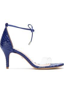 Schutz Sandália De Couro - Azul