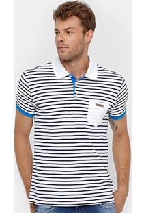 Camisa Polo Colcci Listrada Bolso Masculina - Masculino