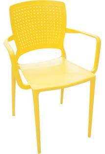 Cadeira Safira Com Braço Amarelo 92049000 Tramontina