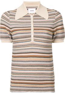 Nanushka Camisa Polo Quinoa - Neutro