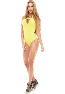 Body Com Bojo Vestem Bd151 P Amarelo Gema - Kanui