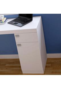 Mesa Para Computador Bc3506 1 Gaveta Branca - Brv