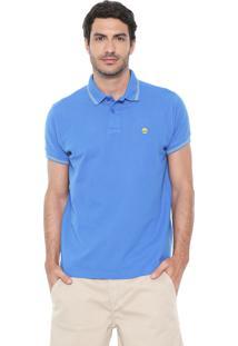 Camisa Polo Timberland Slim Stripes Azul