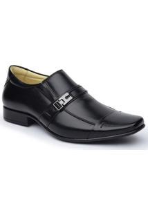 Sapato Social Dlutty Pele De Carneiro Masculino - Masculino-Preto